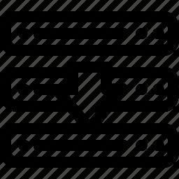 arrow, computer, device, down, download, server icon