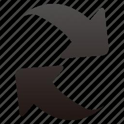 arrows, refresh icon