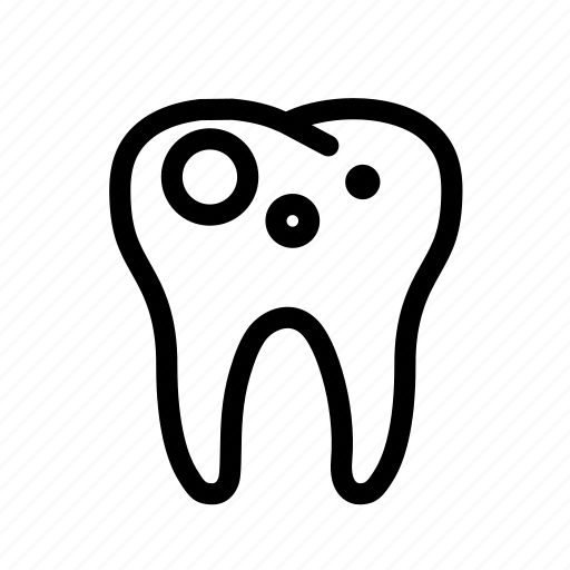 decayed tooth, dental, dentist, dentistry, teeth, tooth, treatment icon