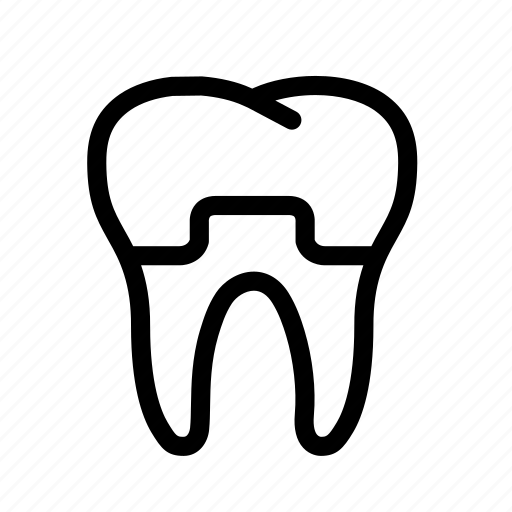 dental, dental crown, dentist, dentistry, teeth, tooth, treatment icon