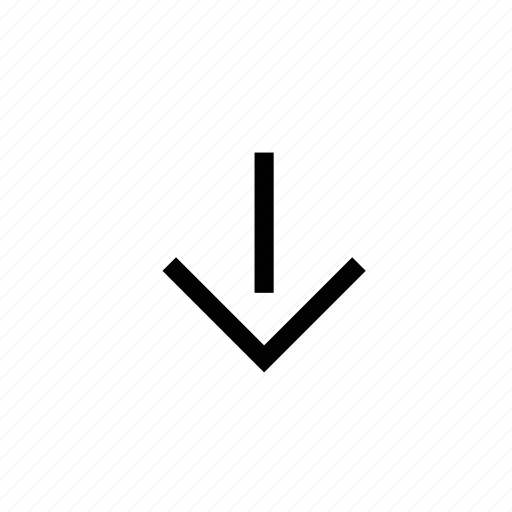 arrow, backward, behind, bottom, down, navigation, sign icon