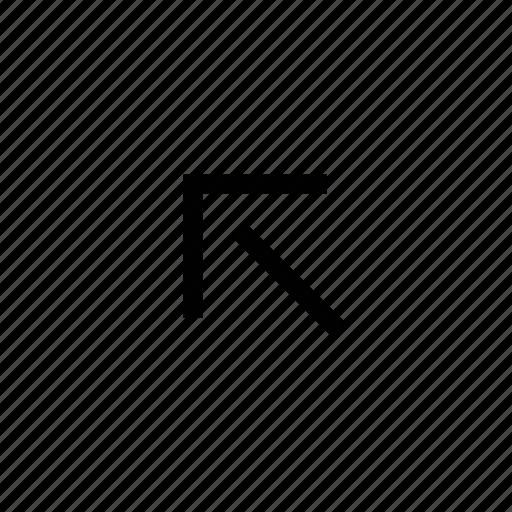 arrow, diagonal, direction, left, navigation, sign, upper left icon