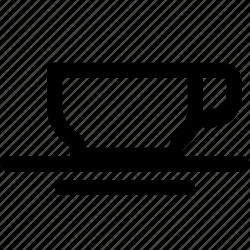coffe, drink, hot, mug, saucer, tea icon