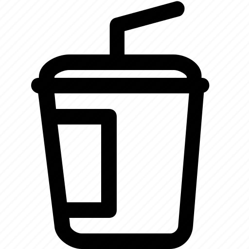 carrier, cup, drink, hot, plastic, straw icon