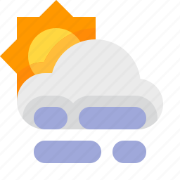 day, fog, material design, weather icon