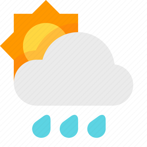 day, heavy, material design, rain, weather icon