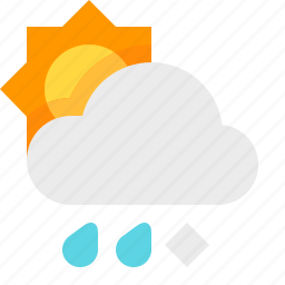 day, material design, sleet, weather icon