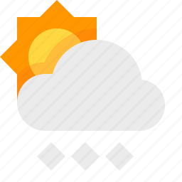 day, heavy, material design, snow, weather icon