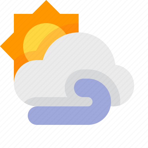 day, material design, weather, wind icon