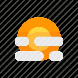 hazy, material design, sun, weather icon