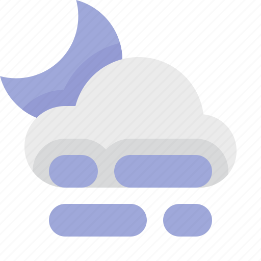fog, material design, night, weather icon