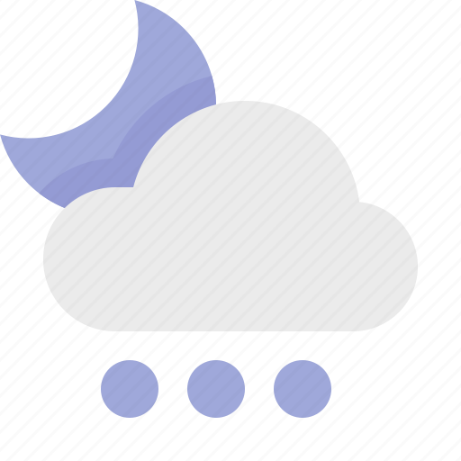 hail, heavy, material design, night, weather icon
