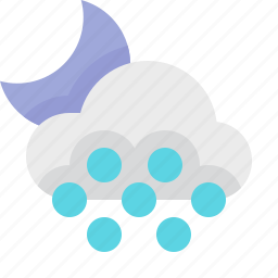 material design, mist, night, weather icon