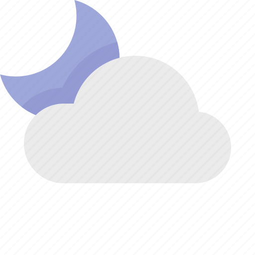 cloudy, material design, night, partly, weather icon