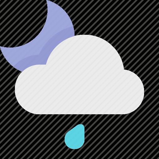 light, material design, night, rain, weather icon