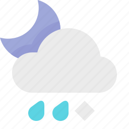 material design, night, sleet, weather icon