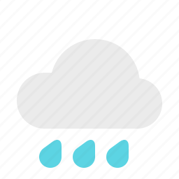 heavy, material design, rain, weather icon