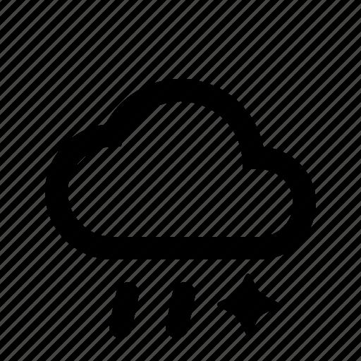 material design, sleet, weather icon