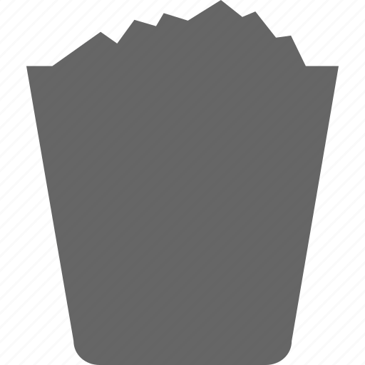 basket, business, cart, dustbin, ecommerce, material, waste icon