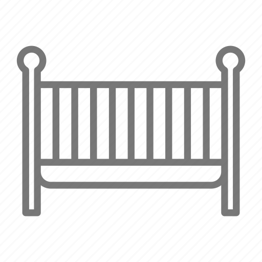 baby, bed, crib, furniture, newborn, nursery, sleep icon