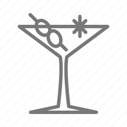 alcohol, bar, cocktail, gin, martini, olive, vodka icon