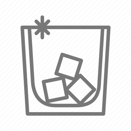 alcohol, bar, bourbon, cocktail, drink, ice, whiskey icon