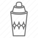 alcohol, bar, cocktail, drink, martini, shake, shaker icon