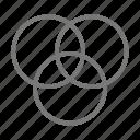 chart, circle, data, venn diagram icon