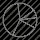chart, data, pie chart, statistics icon