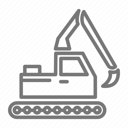 claw, construction, dig, excavator, haul, site, vehicle icon