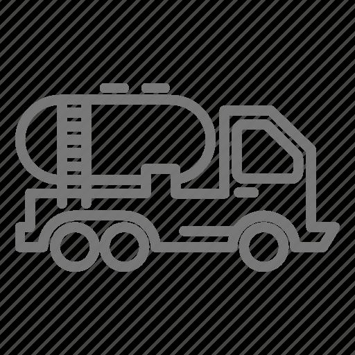 construction, haul, liquid, tank, truck, water icon