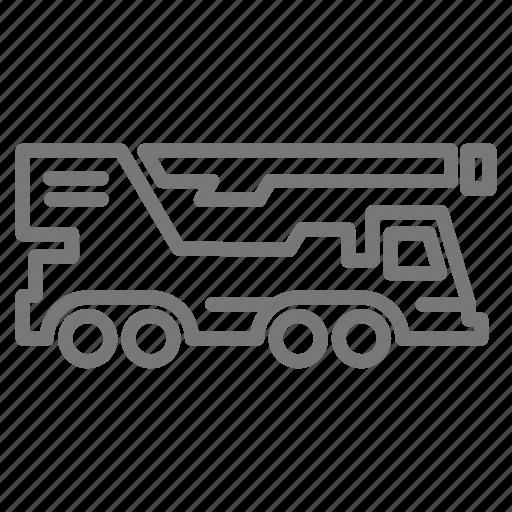 construction, crane, hydraulic, lift, truck icon