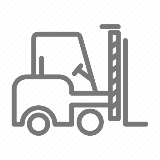 construction, factory, forklift, lift, pallet icon