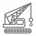 construction, crane, hook, lift, site, truck icon
