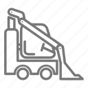 bulldozer, construction, haul, loader, site icon