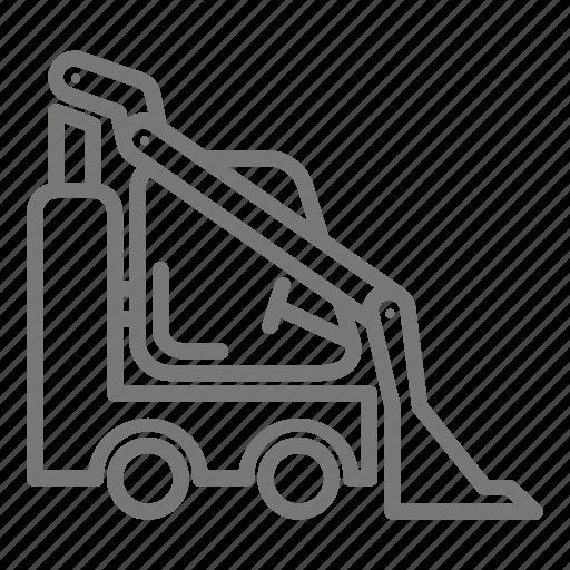 bulldozer, construction, haul, loader, site icon