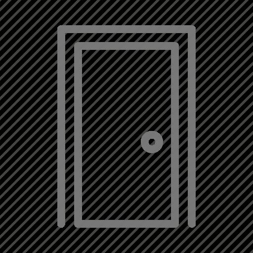 door, frame, handle, house, knob icon