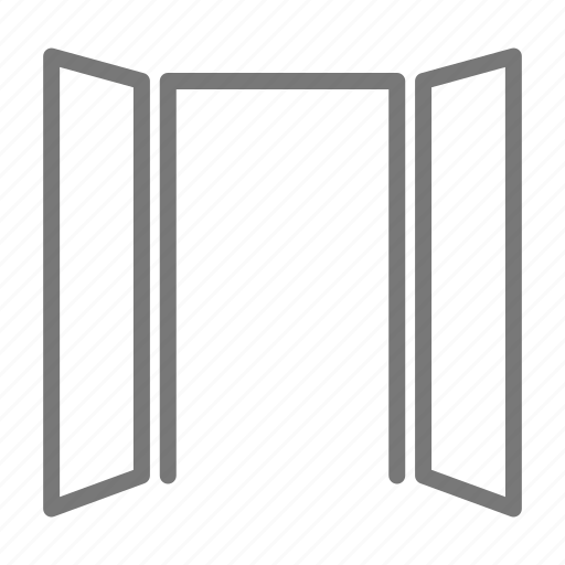 door, double, french, house, open icon