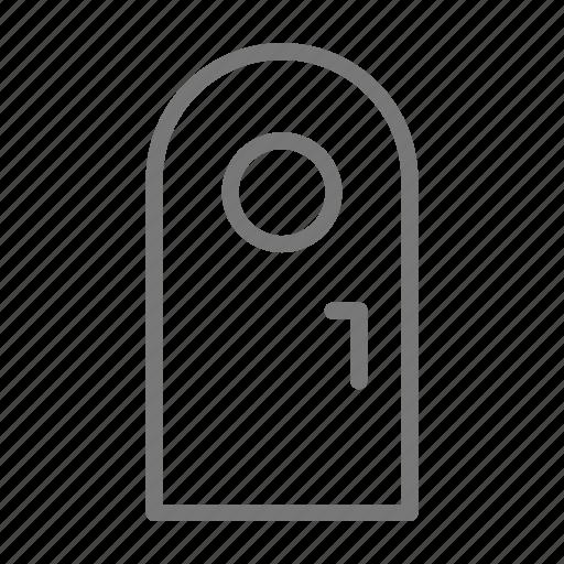 door, handle, home, house, window icon