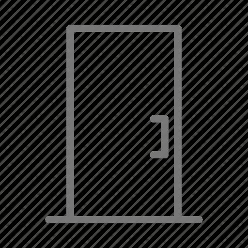 door, handle, house, office icon