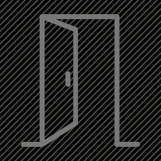 door, exit, handle, house, open icon