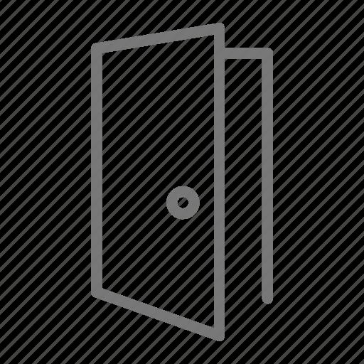 door, frame, house, knob, open icon
