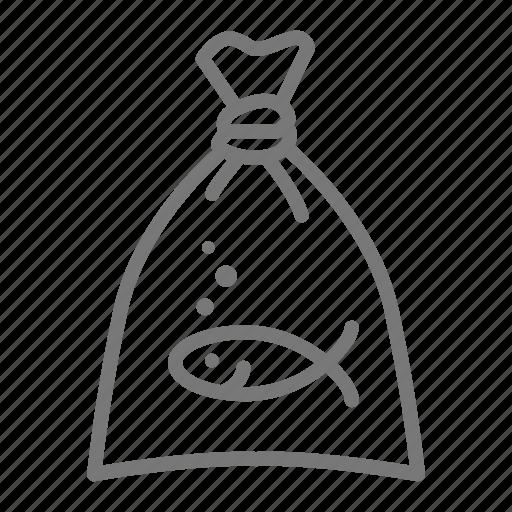 carnival, fair, fish in bag, goldfish, prize icon