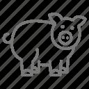 4-h, farm, pig, swine icon