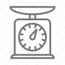weigh, grocery, scale icon