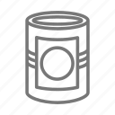 can, canned good, groceries, vegetables icon
