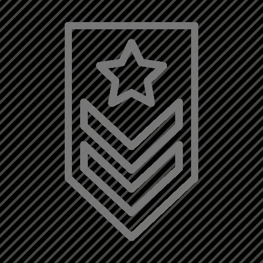 insignia, military, rank icon