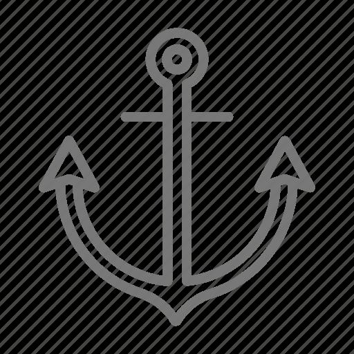anchor, military, navy icon