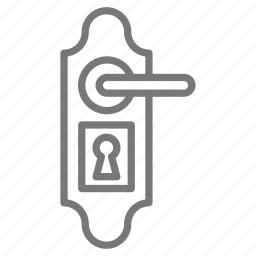 door, front, house, key, knob, lock, moving icon