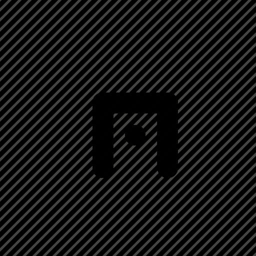 center, centre, minimal, open, point, primitive, square icon